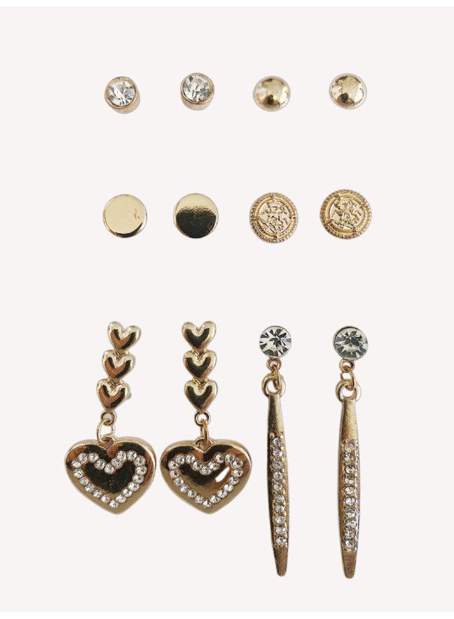 Set of 6 Earring - #1361
