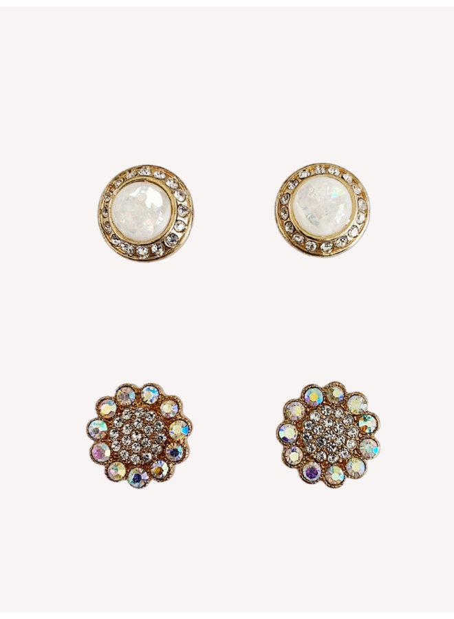 Set of 2 Earrings -  #1364