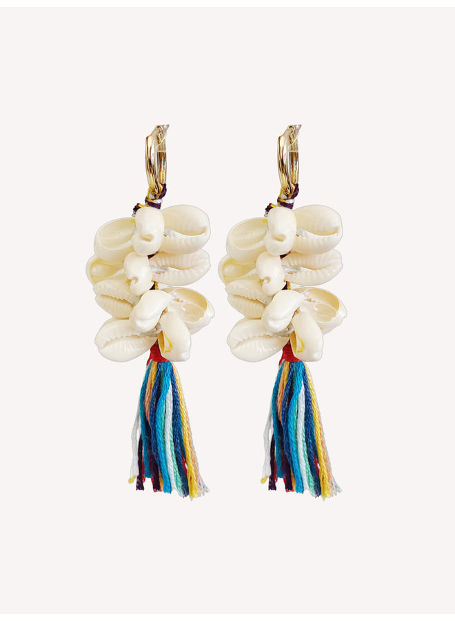 Earring - Shell - Colorful #1340