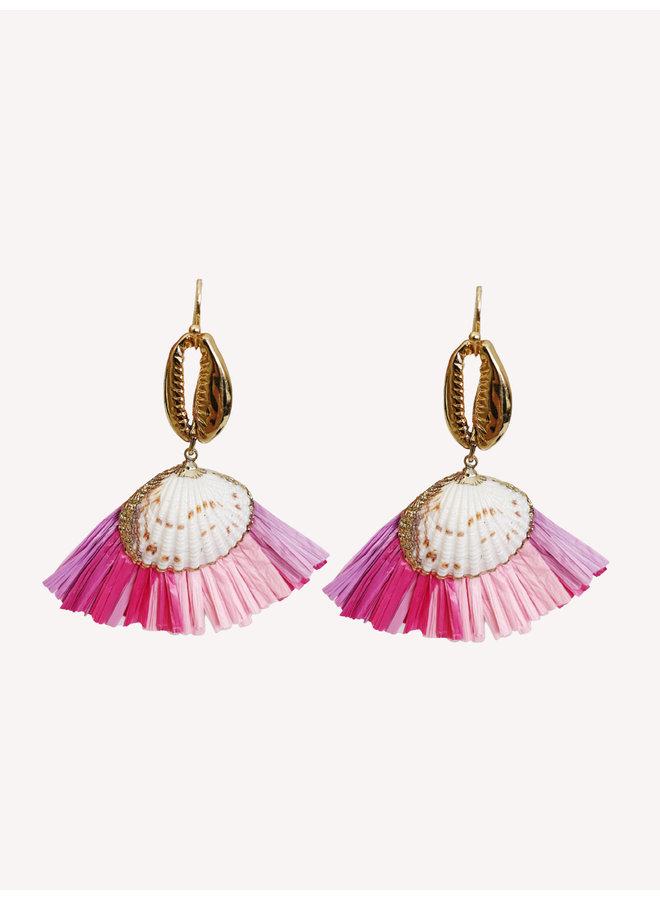 Earring - Pink - Shell #1334