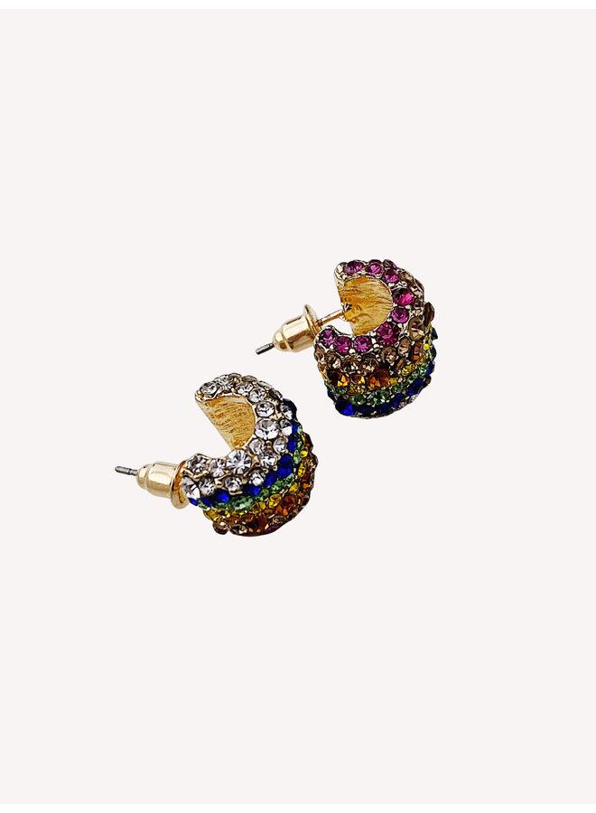 Earring - Gold - Rainbow #1330