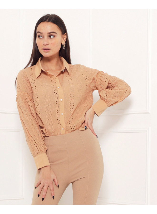 Joyce top - brown #1515