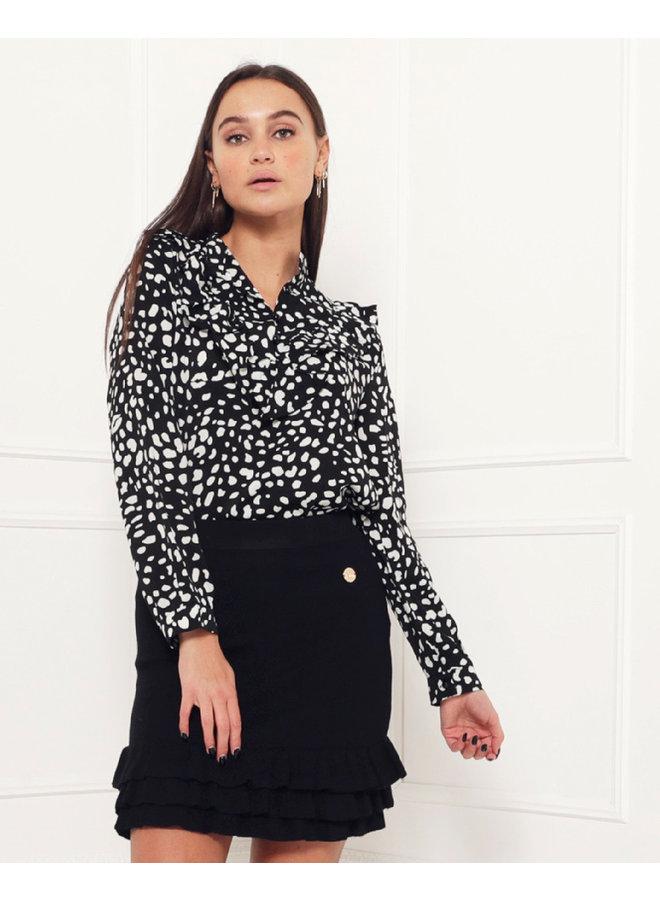 Fierce blouse - black/leo #1511