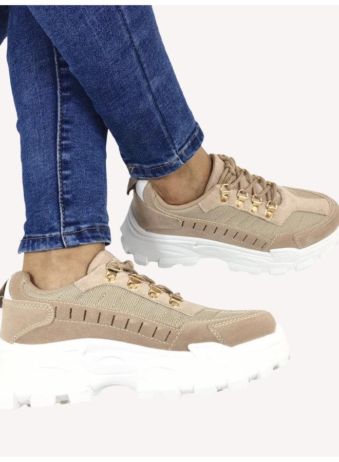 Chunky Sneakers - Beige #R-918