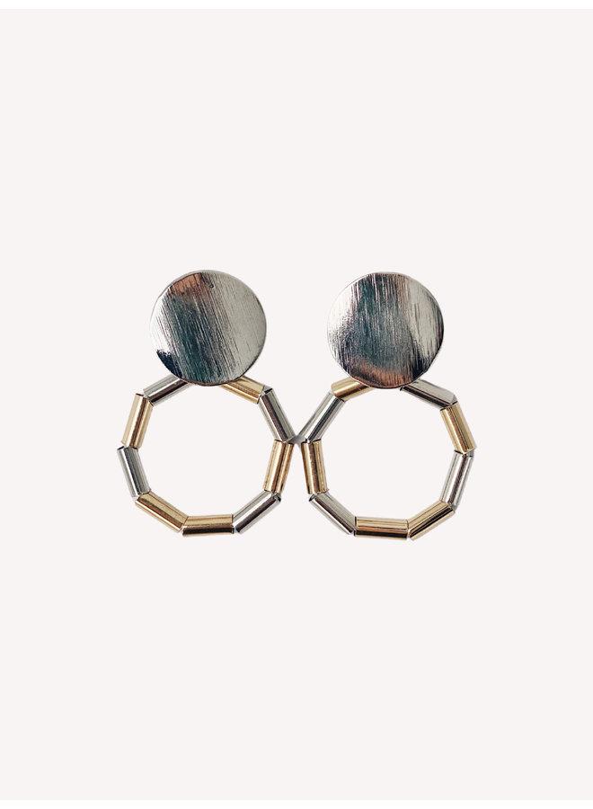 Lecy Earring - Gold/Silver #4