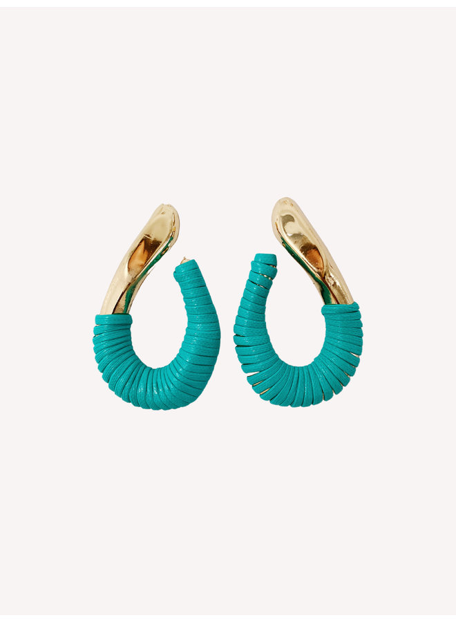 Adore Earring - Gold/Mint #12