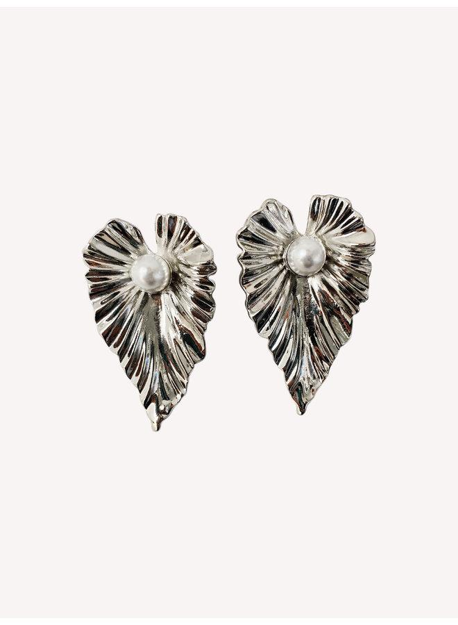 Leaf Earring - Silver #23