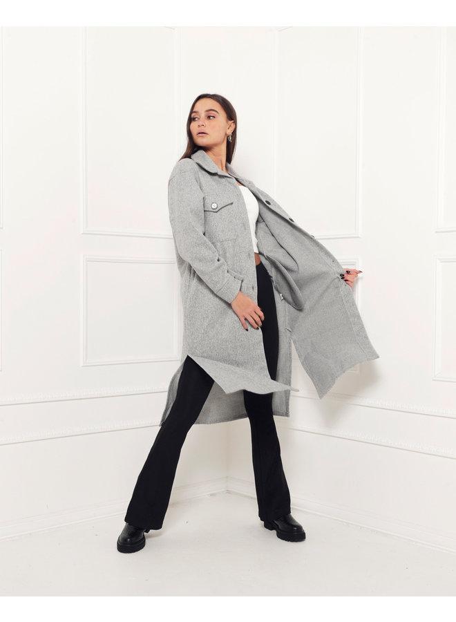Ready teddy jacket - grey #1466