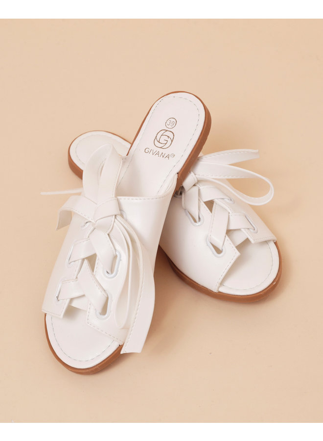 Strapped succes sandals - white #NN127