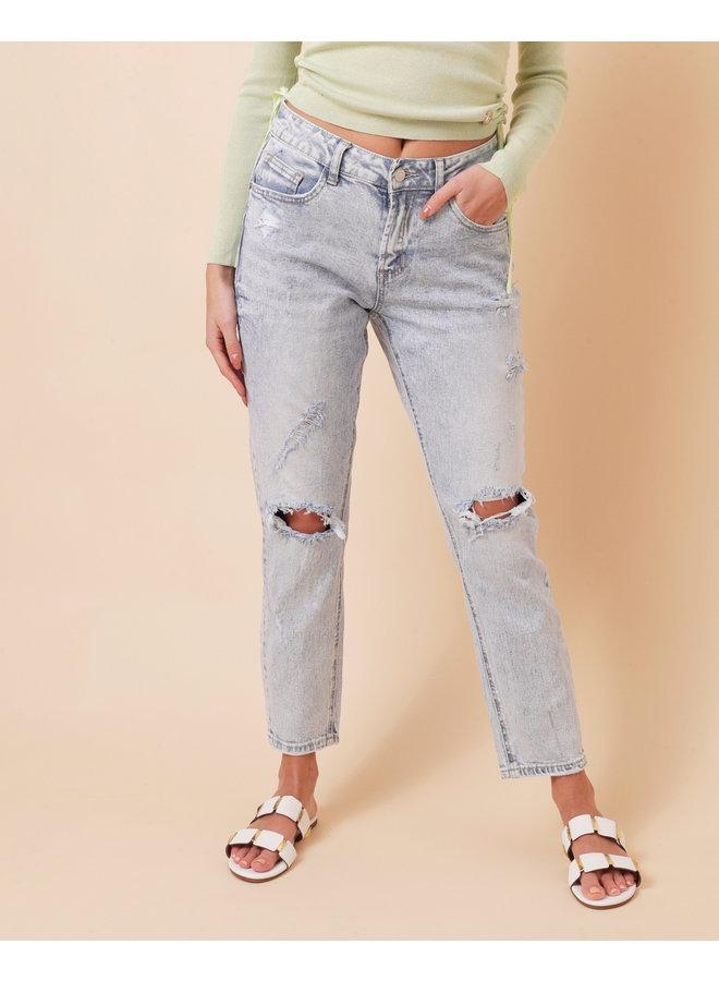 Killin' em softly denim jeans - light wash #1541
