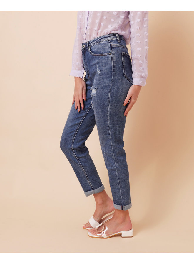 Back at you ankle jeans - medium wash #1540