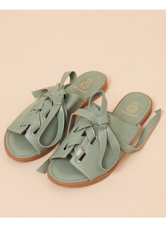 Strapped succes sandals - green #NN127