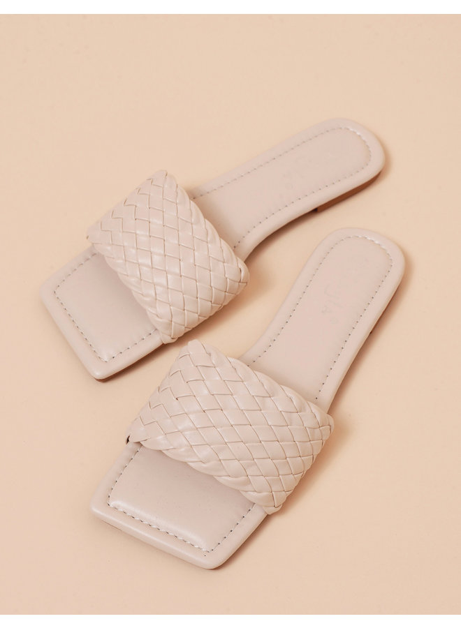 Lovers cove slides - creme #LL6543