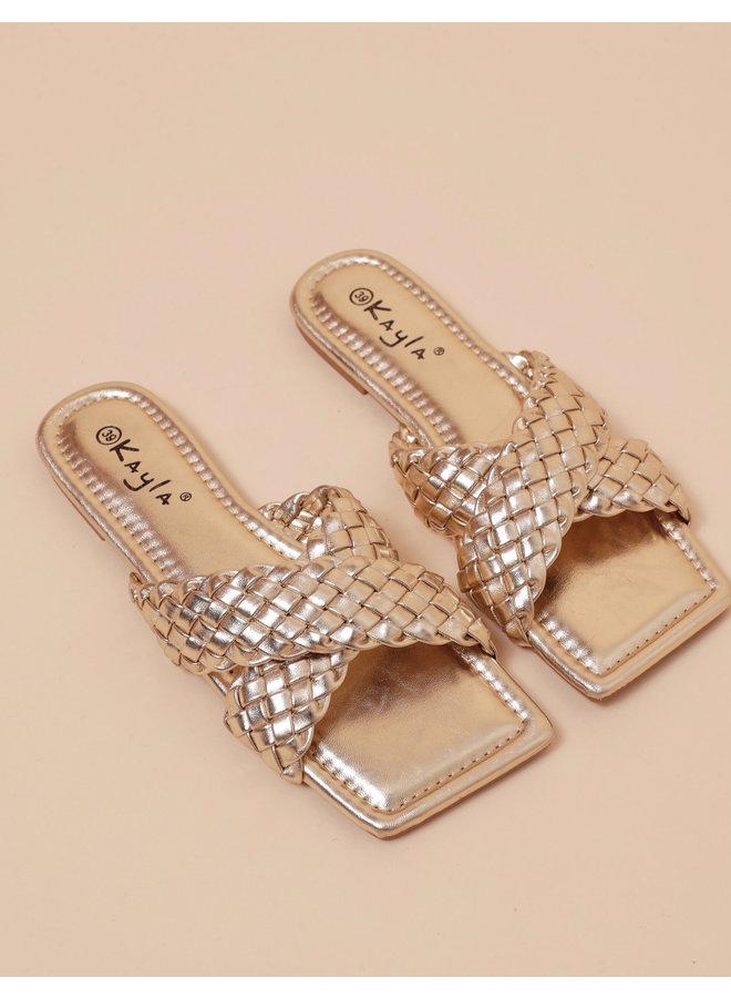 No love lost sandals - gold #LL6544