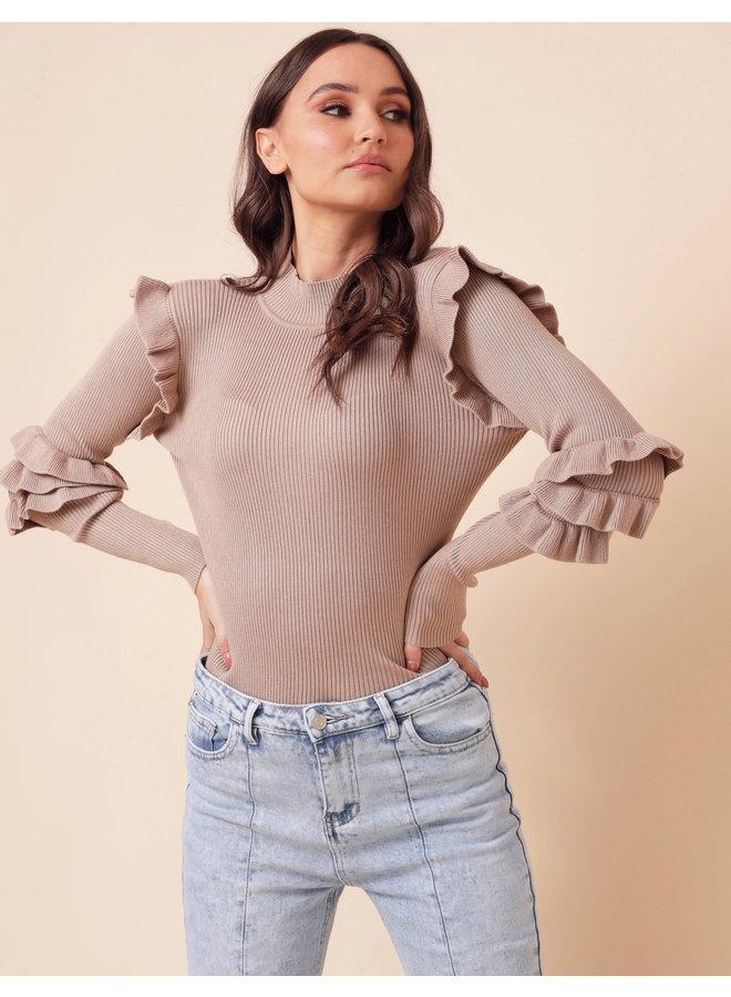 Sunday's best sweater - brown #1577