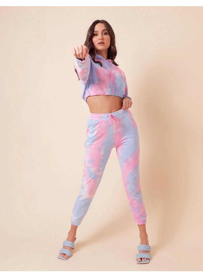 Tie dye two piece set - blue/pink #1566