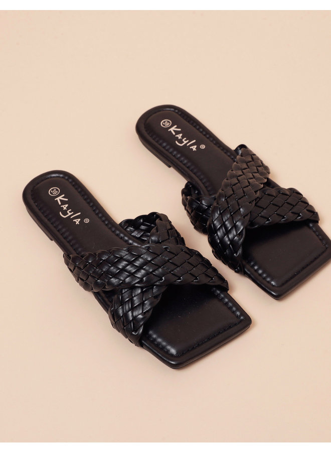 Cherish me slippers - black #LL6544