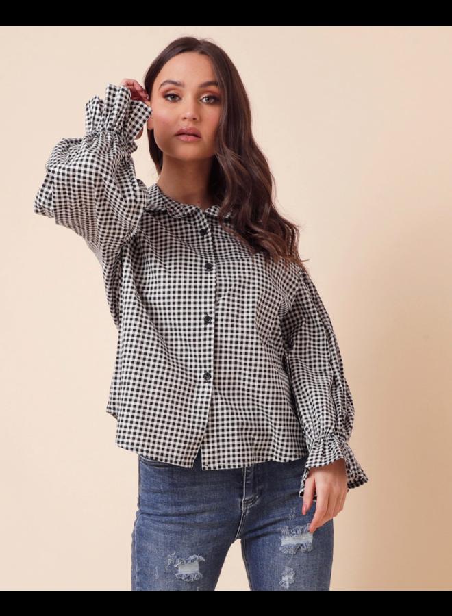 Kaisley plaid blouse - black #1554