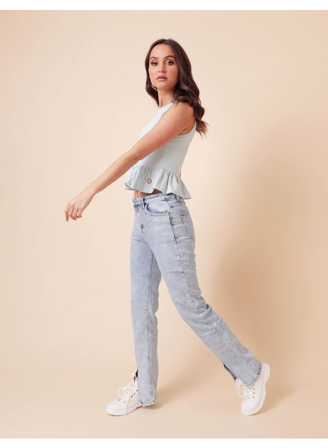 Top Zara Light Blue