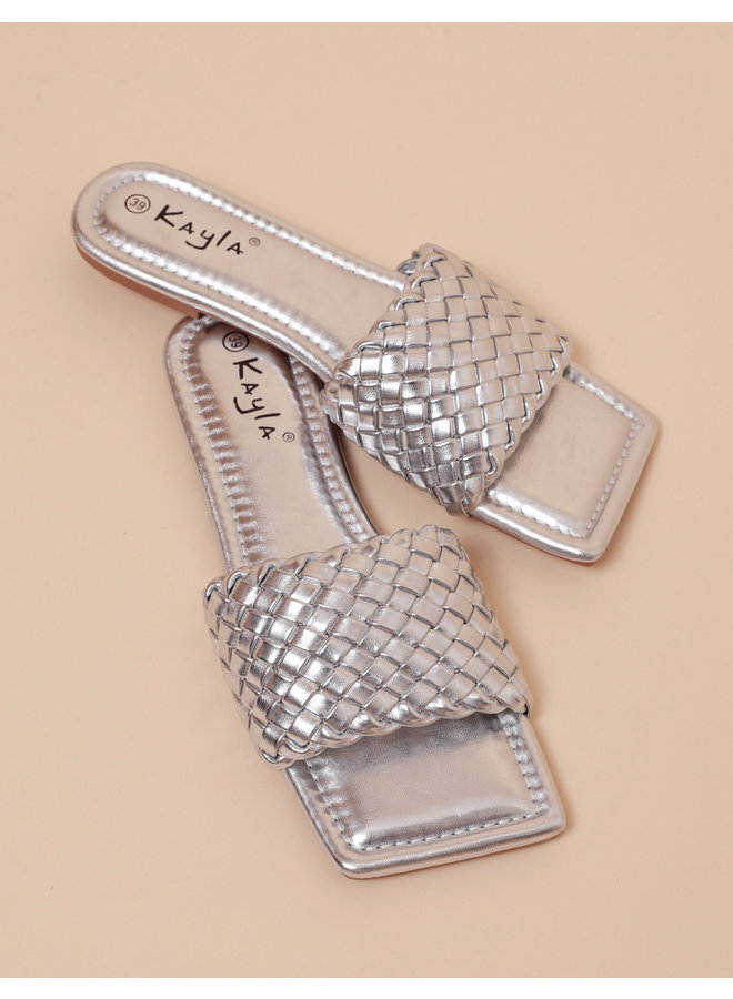 Lovers cove slides - silver #LL6543