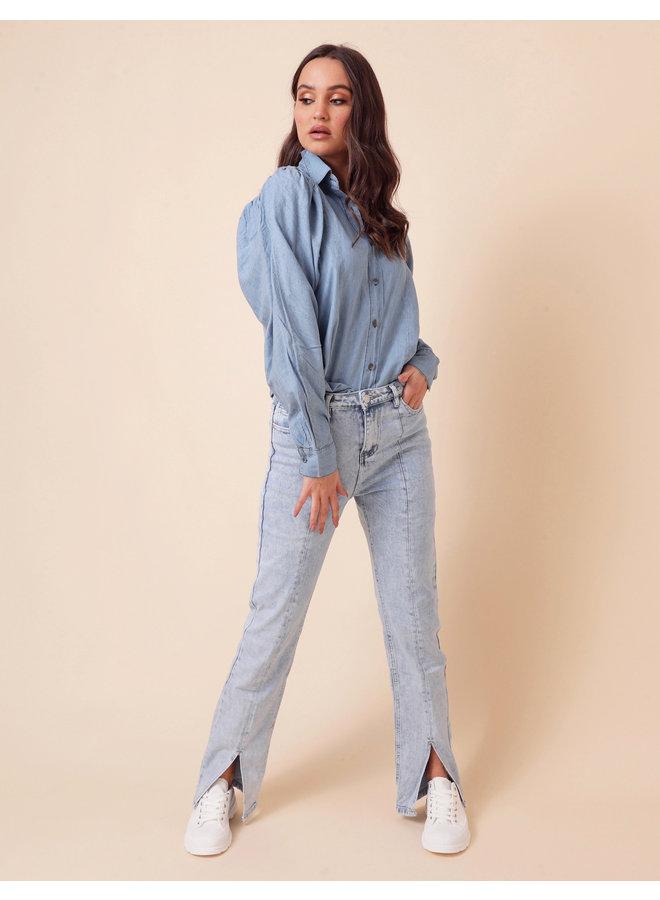 Good girl denim blouse - blue #1562