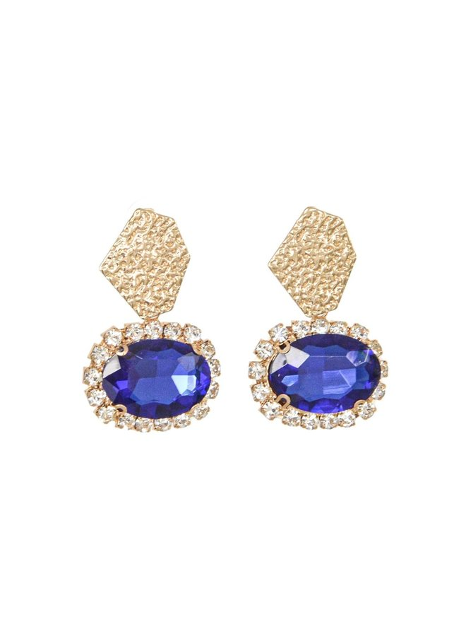 Earring - Blue Gold #164
