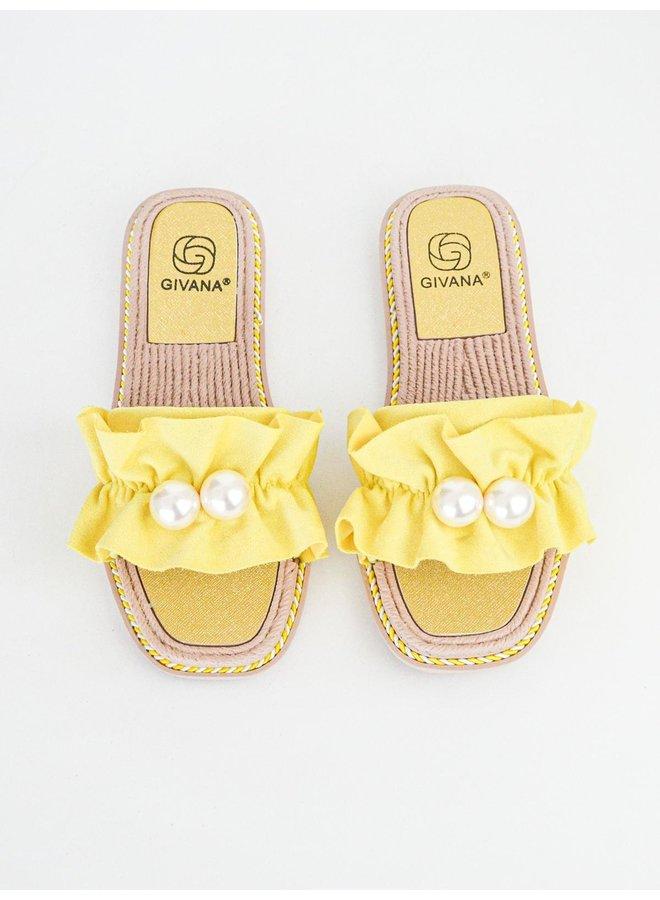 Kiki slippers - yellow #BJ557