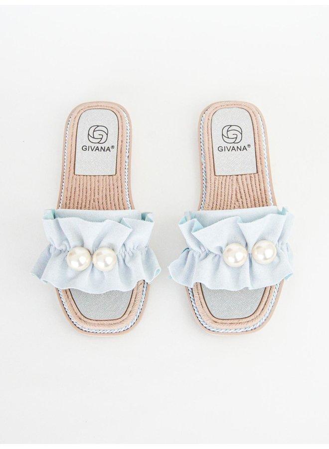 Kiki slippers - blue #BJ557
