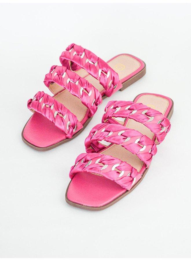 June slippers - fuschia #B1639-27