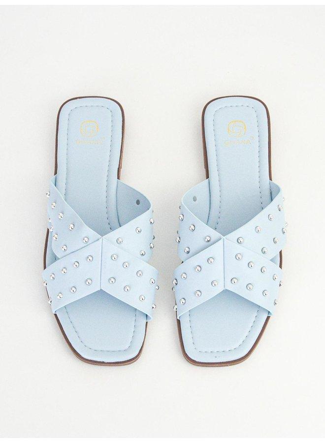 Iza slippers - light blue #B1639-32