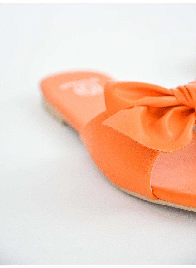 Miya slippers - orange #KELLY-16