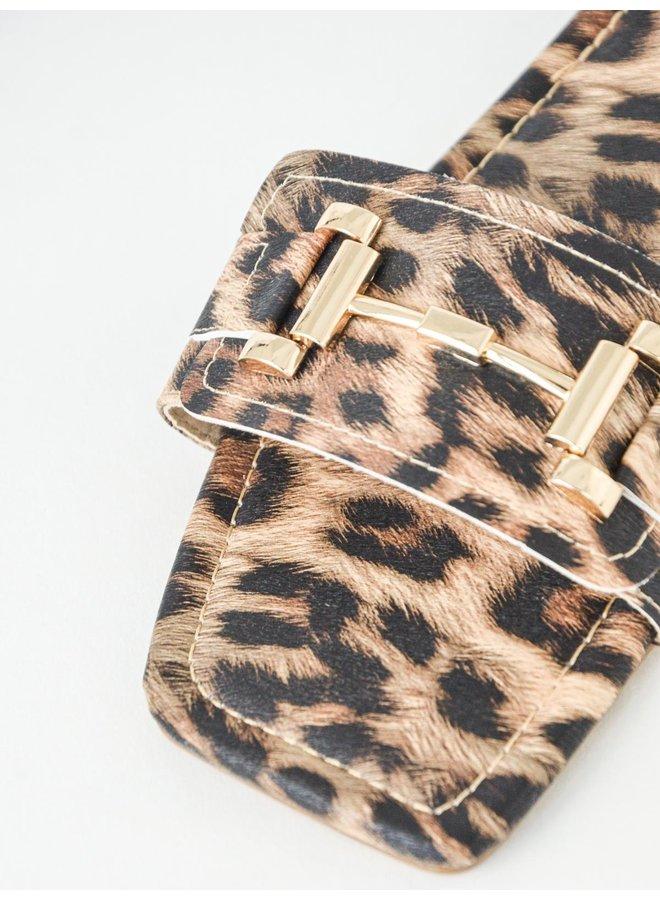 Leyna slides - leopard #BJ543