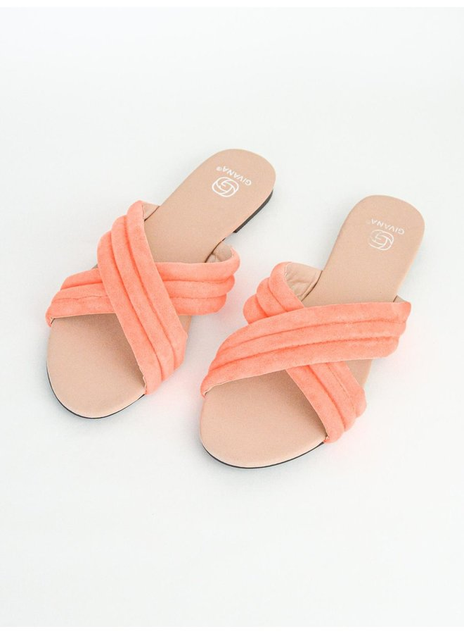 Eva slippers - orange #KELLY-15