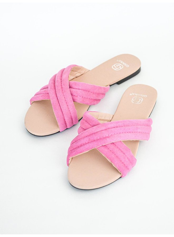 Eva slippers - fuchsia #KELLY-15