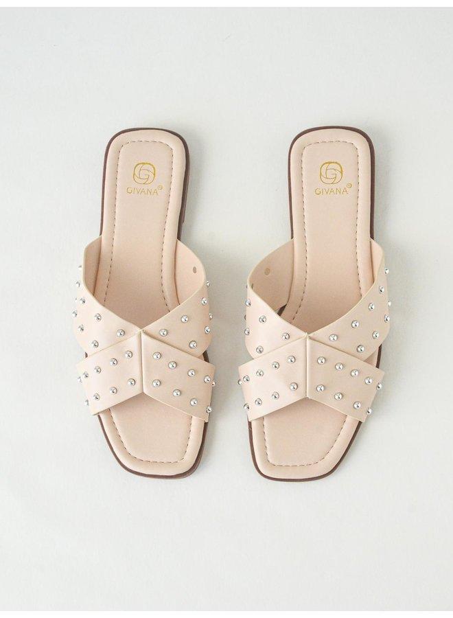 Iza slippers - nude #B1639-32