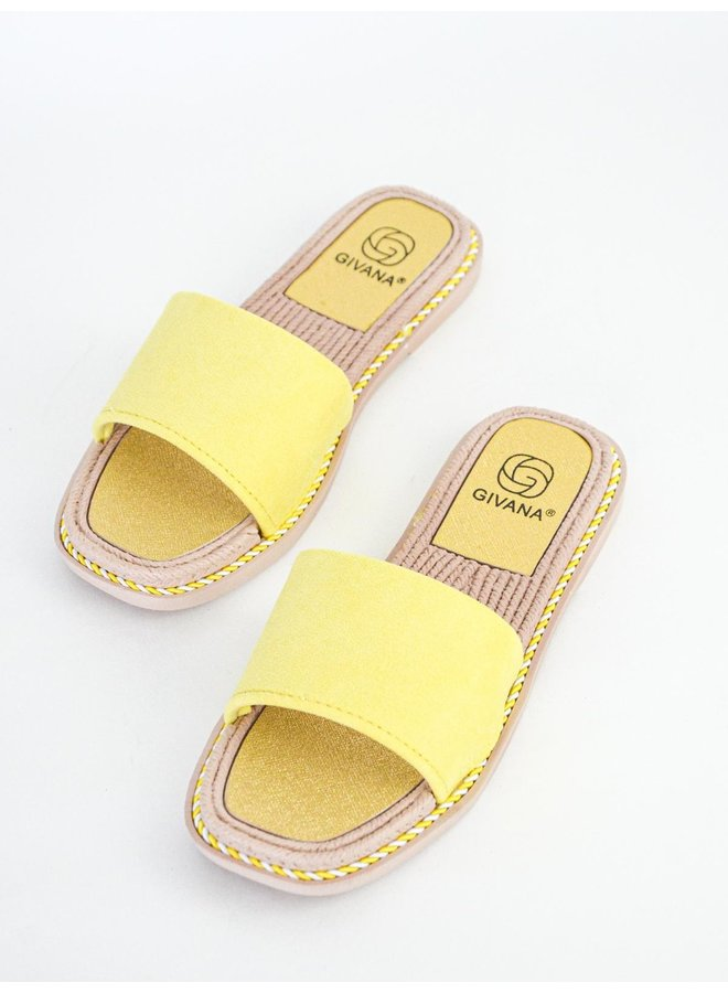 Kendall slippers - yellow #BJ559