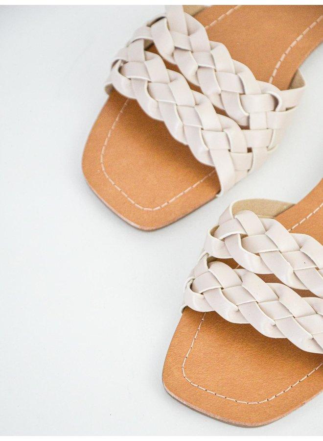 Penelope slippers - beige #BJ537
