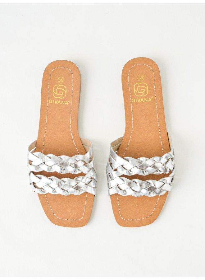 Penelope slippers - silver #BJ537