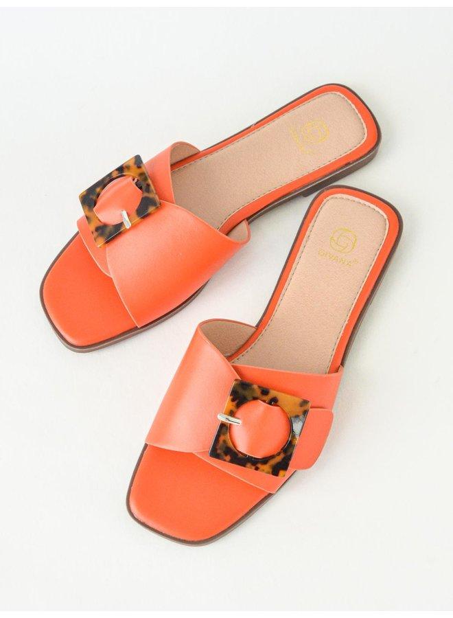 Coco slippers - orange #B1639-29
