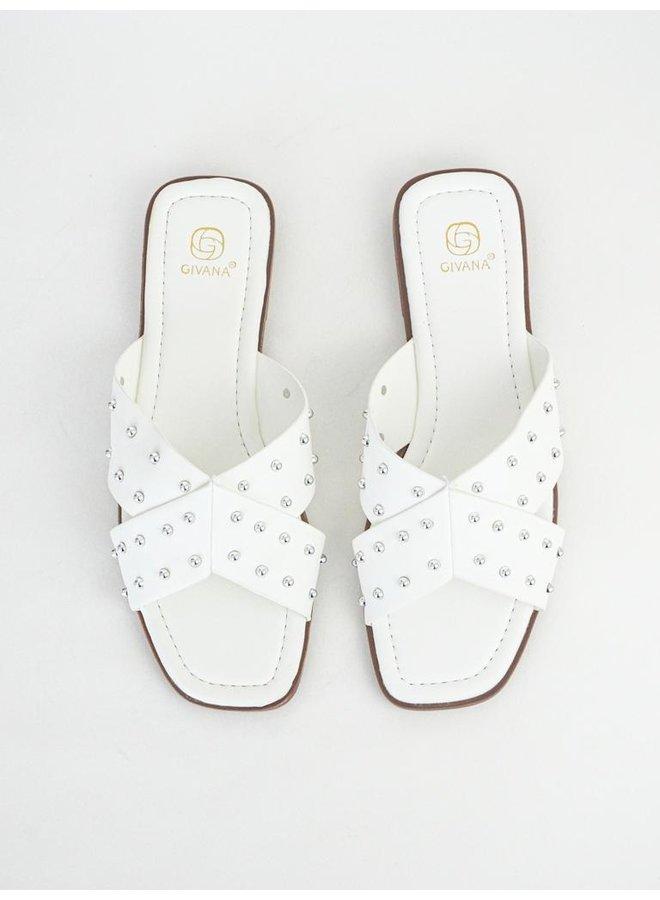 Iza slippers - white #B1639-32