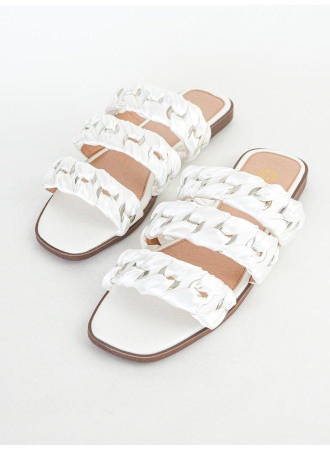 June slippers - white #B1639-27