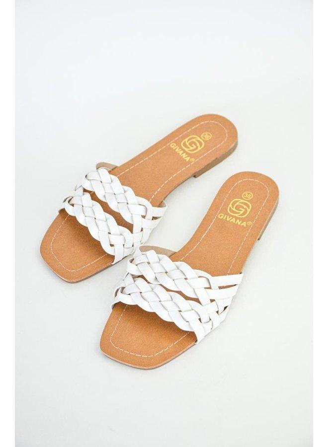 Penelope slippers - white #BJ537
