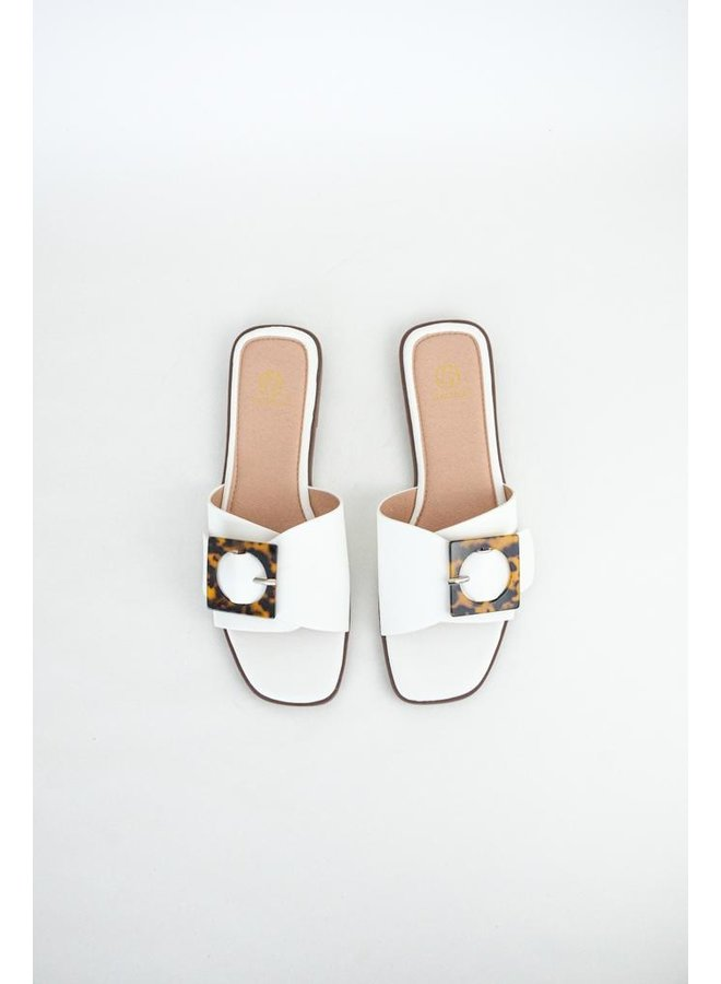 Coco slippers - white #B1639-29