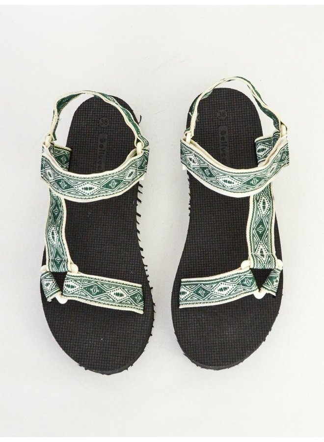 Paige slippers - green #B-634