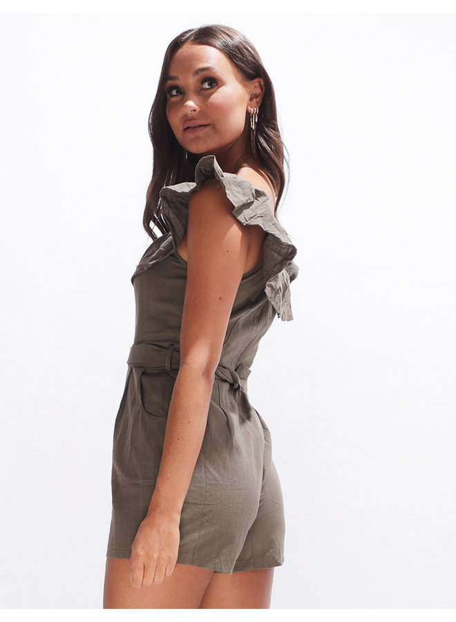 Williams playsuit - army green #2139