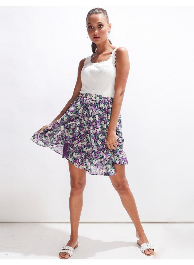 Ruffle rose skirt - multicolor #2128