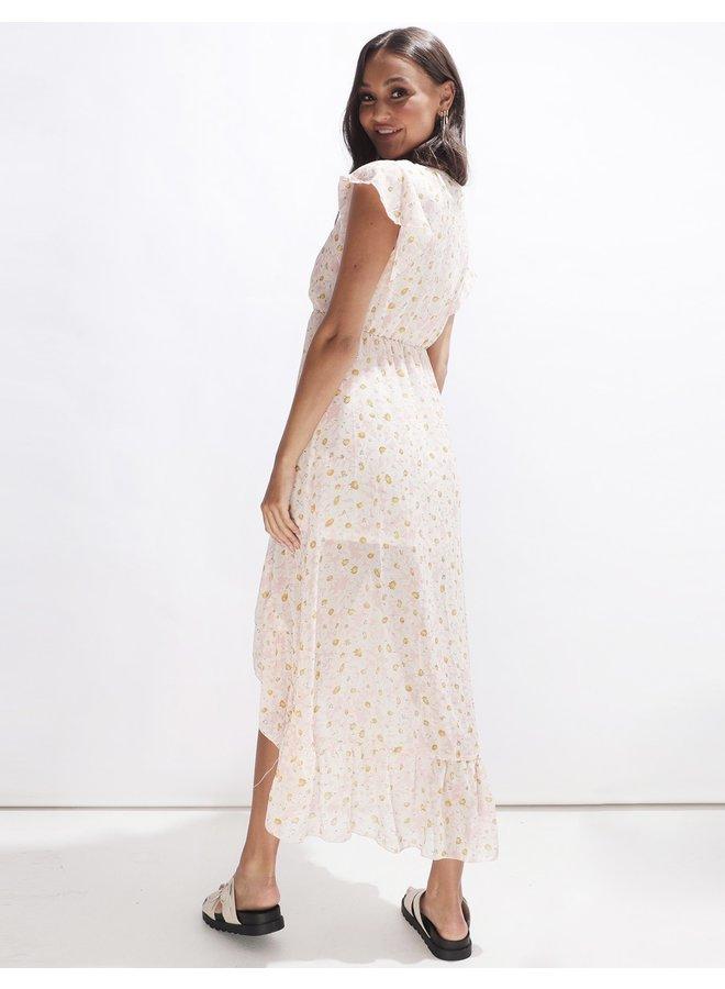 Long sunflower dress - pink #2120