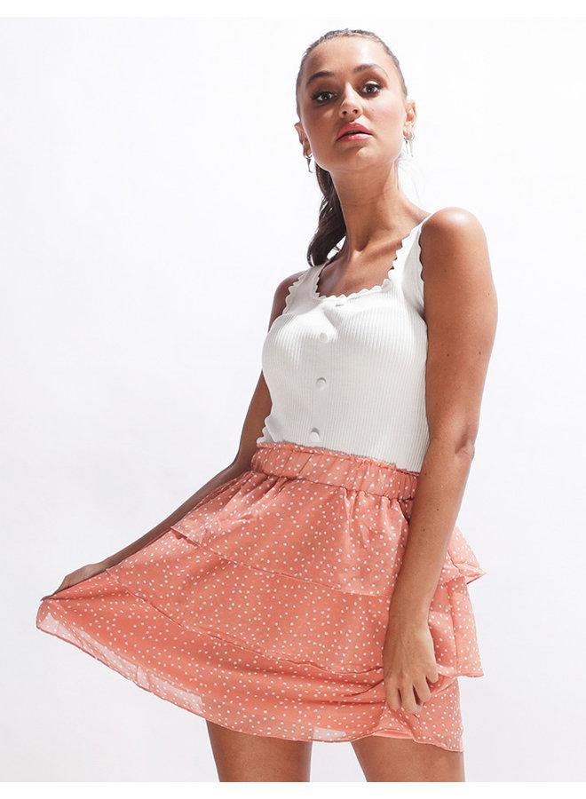 Polka skirt - orange #2072