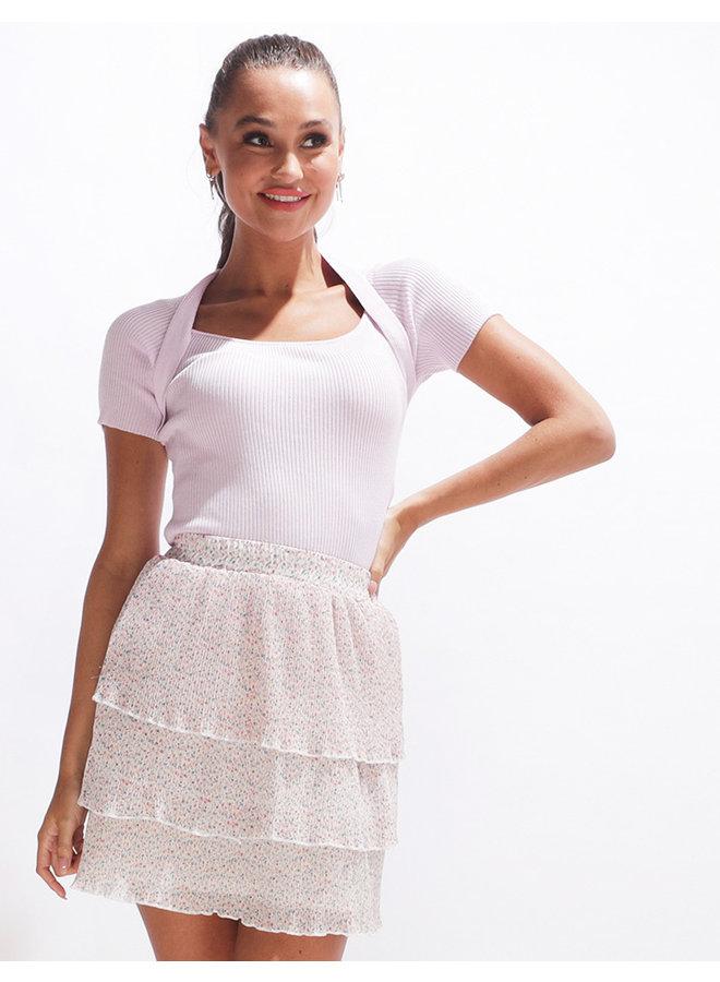 Flower ruffle skirt - offwhite #2050