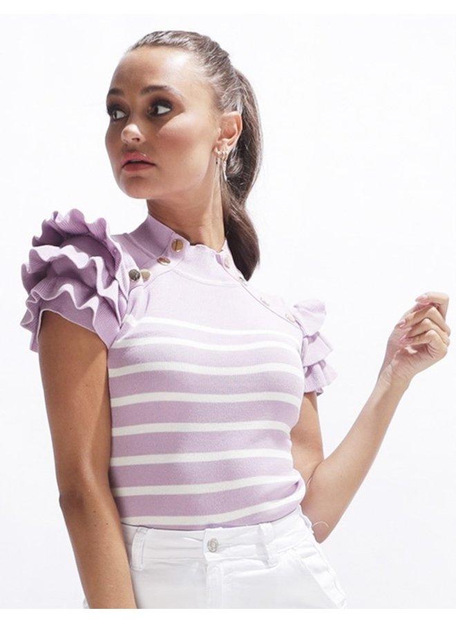 Christina top - lila #2110